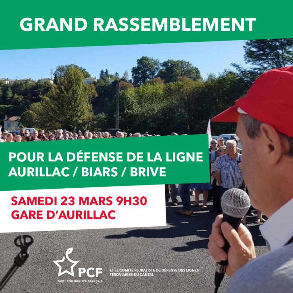 23 Mars : rassemblement en gare d'Aurillac