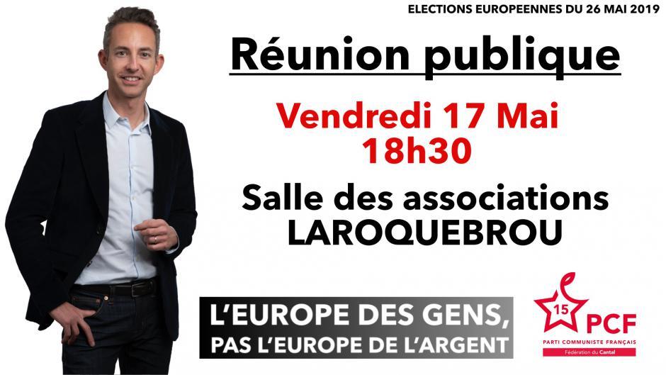 Européennes 2019 : réunion publique à Laroquebrou