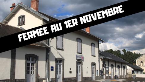 Gare de Saint Flour : silence, on liquide !